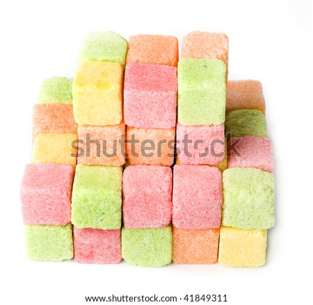 fruit sugar isolated on the white background