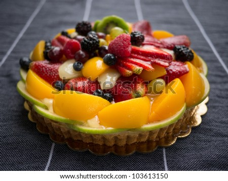 Fruit Tart 1 - stock photo