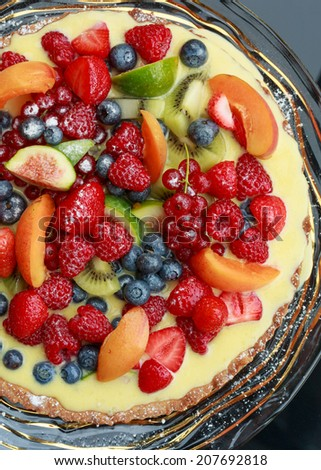 Fruit tart - stock photo