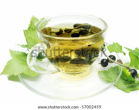 fruit tea with black currant extract and berries
