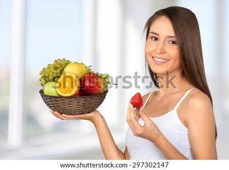 Fruit, Women, Healthy Lifestyle.