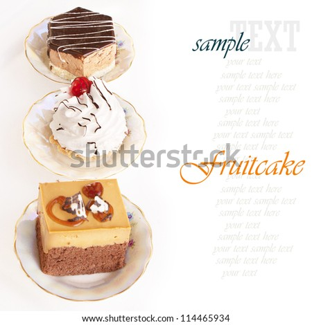Fruitcake.Sweet dessert biscuit - stock photo