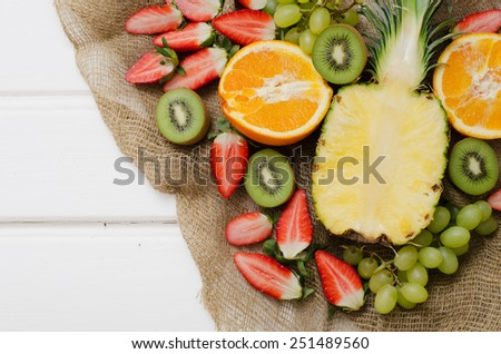 Fruits and berries - stock photo
