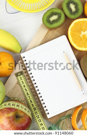 Fruits and diet - stock photo