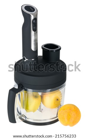 fruits and food processor