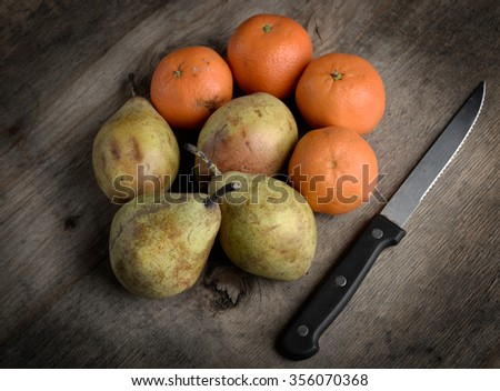fruits and tangerines - stock photo