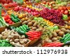 Fruits and vegetables at a farmers market - stock