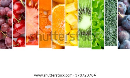 Fruits and vegetables. Food concept