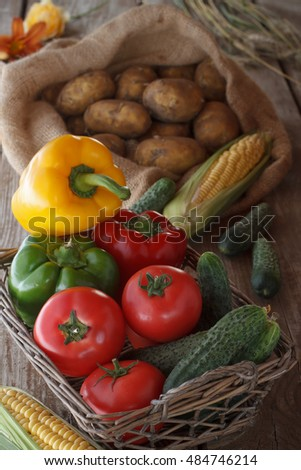 Fruits and vegetables from the countryside