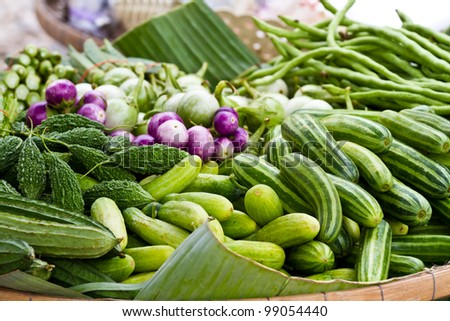 Fruits and vegetables have health benefits. - stock photo