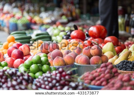 Fruits and vegetables. Health food concept.