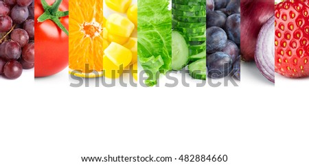 Fruits and vegetables. Healthy food concept