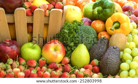 Fruits and vegetables organics - stock photo