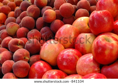 Fruits - Apple and Nectarine
