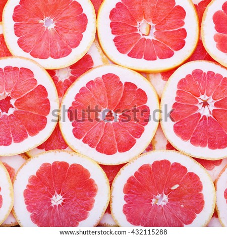 Fruits background macro. Citrus fruits top view macro, selective focus. Fruit Mix like bright background