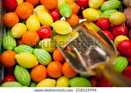 Fruits candy - stock photo
