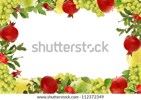 Fruits collage frame