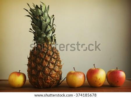 Fruits combination - stock photo