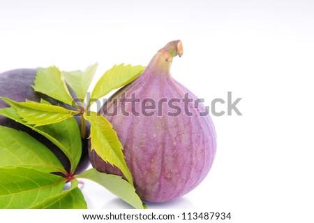 Fruits figs on white background - stock photo