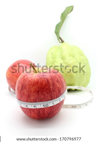 fruits for diet on white background