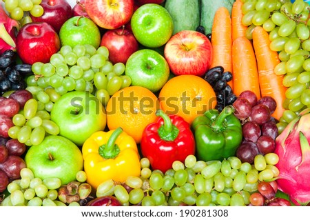 Fruits for healthy - stock photo