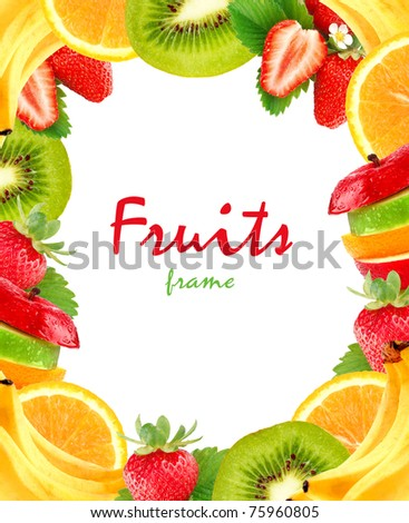 Fruits frame - stock photo