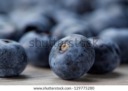Fruits - Fresh Blueberries - Healthy Eating - stock photo