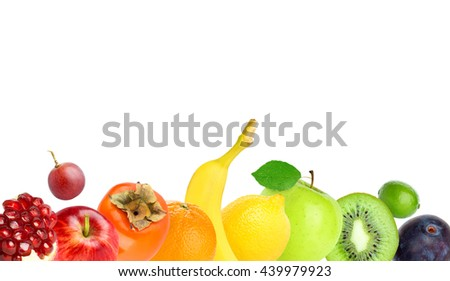 Fruits. Healthy food concept. Fresh food