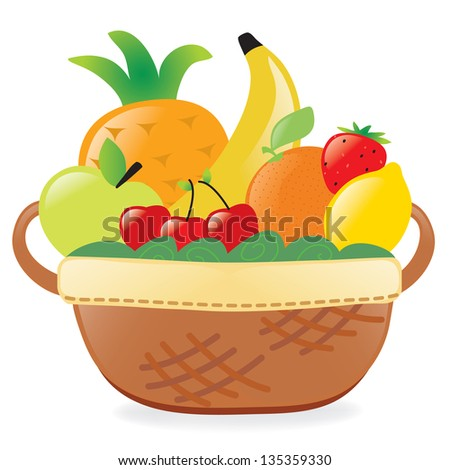 Fruits in a basket - Jpeg