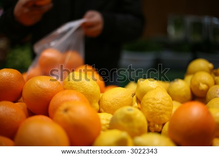 fruits in shop 2 - stock photo