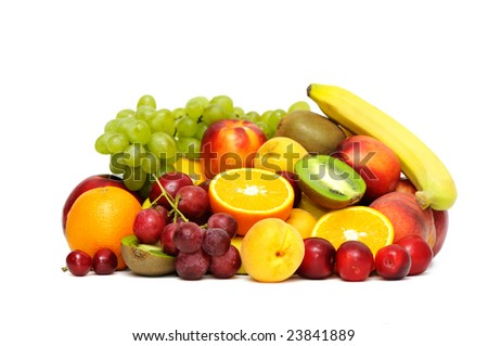 fruits isolated on a white - stock photo