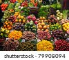 Fruits market, in La Boqueria,Barcelona famous marketplace - stock photo