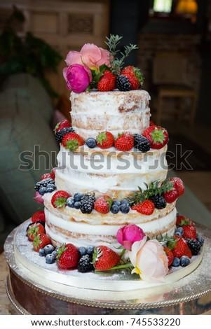 fruits forest wedding cake stock photo royalty free 745533220