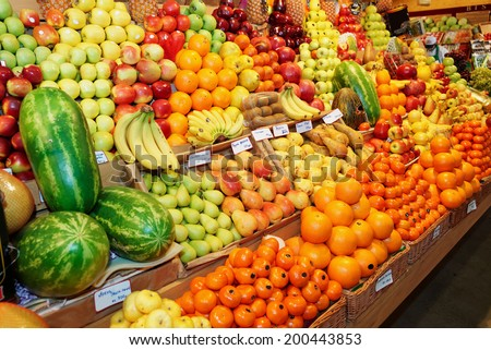 Fruits on a farm market