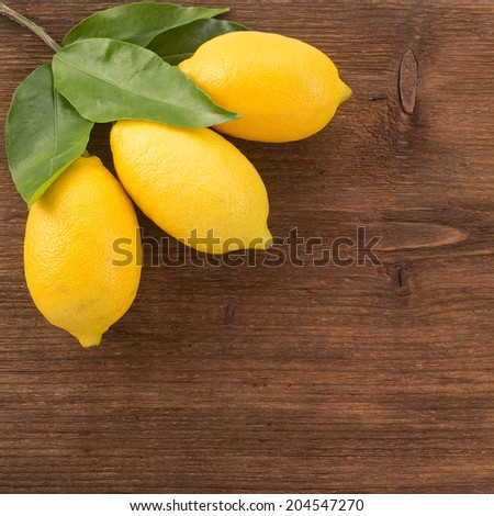 Fruits on a wooden background   - stock photo