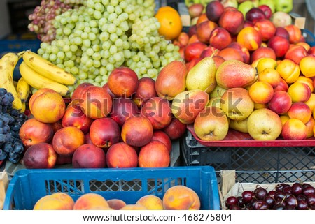 Fruits on the market.