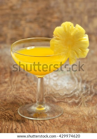 fruity cocktail - stock photo