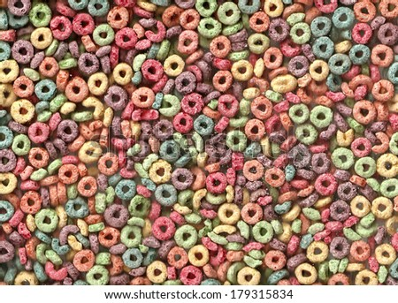 Fruity Colorful Cereal - stock photo