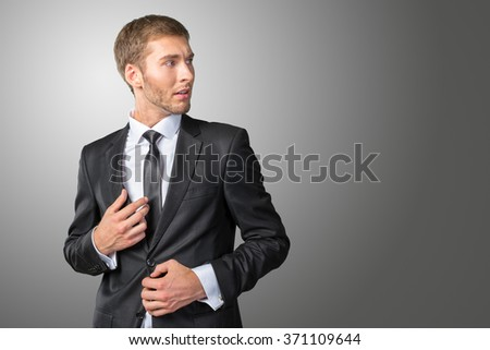 Frustrated and nervous young businessman
