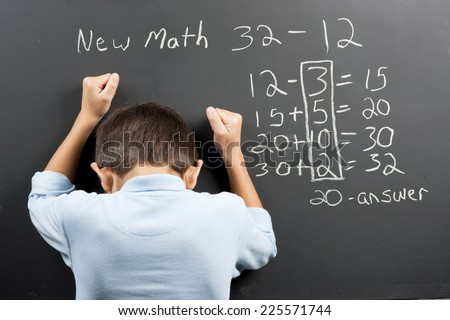 Frustrated at the new math.