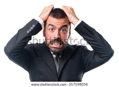 Frustrated Businessman - stock photo