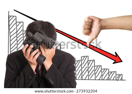 Frustrated Businessman sad after his business failure. - stock photo