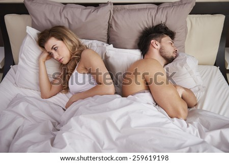 Frustrated couple with serious problems  - stock photo