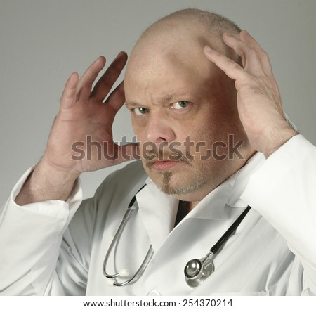 Frustrated Doctor - stock photo