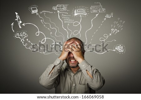 Frustrated. Expressions, feelings and moods. Life passions. - stock photo