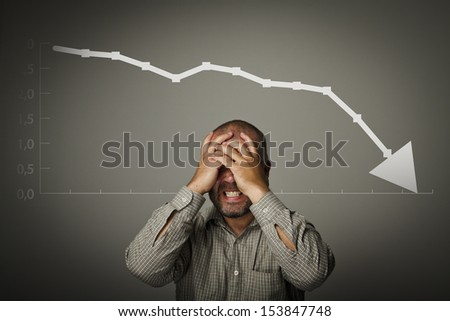Frustrated. Expressions, feelings and moods. Man suffering from headache. - stock photo