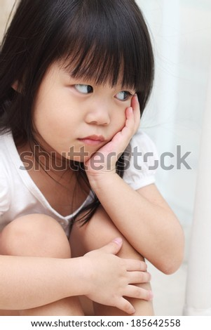 Frustrated little toddler - stock photo