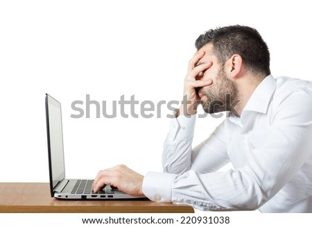 Frustration at work  - stock photo