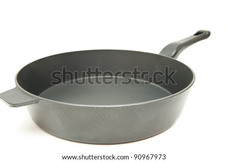 frying pan for the preparation of fried foods - stock photo