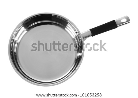 Frying pan. Isolated - stock photo